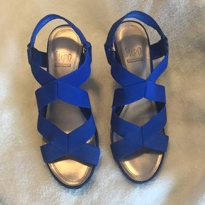 Impo Valorie blue wedges